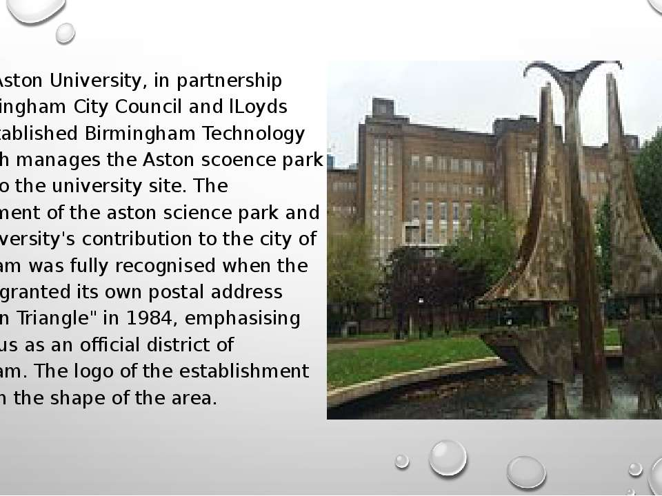 In 1983, Aston University, in partnership with Birmingham City Council and lL...