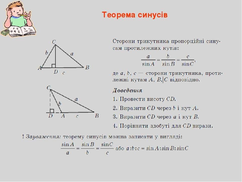 Теорема синусів