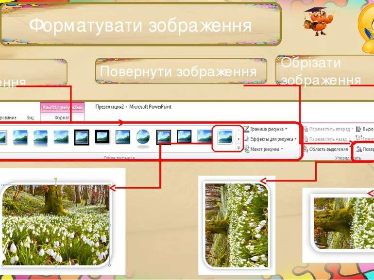 Форматувати зображення Обрізати зображення Стилі зображення Повернути зображення
