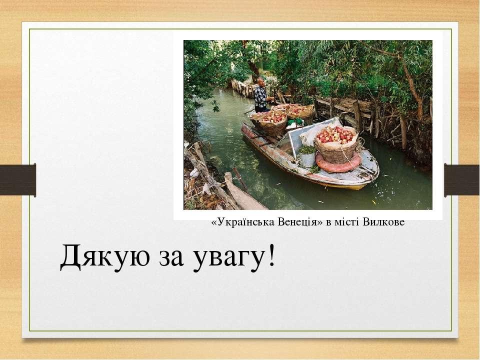 Дякую за увагу! «Українська Венеція» в місті Вилкове