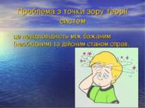 Проблема з точки зору теорії систем це невідповідність між бажаним (необхідни...