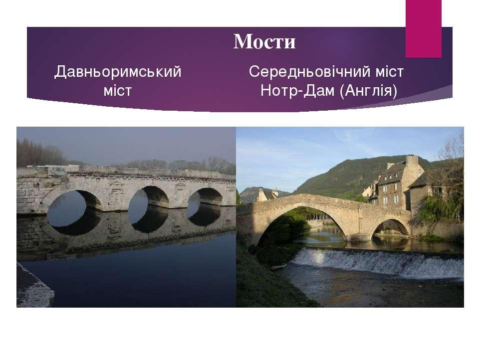 Мости Давньоримський міст Середньовічний міст Нотр-Дам (Англія)