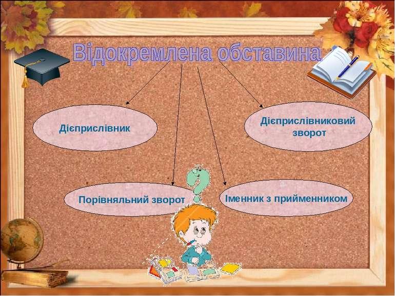 Дієприслівниковий зворот Дієприслівник Порівняльний зворот Іменник з прийменн...