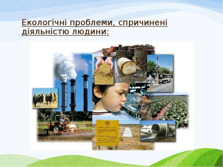 Екологічні проблеми, спричинені діяльністю людини:
