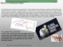 What is a financial crisis?