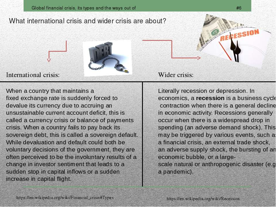 What international crisis and wider crisis are about?