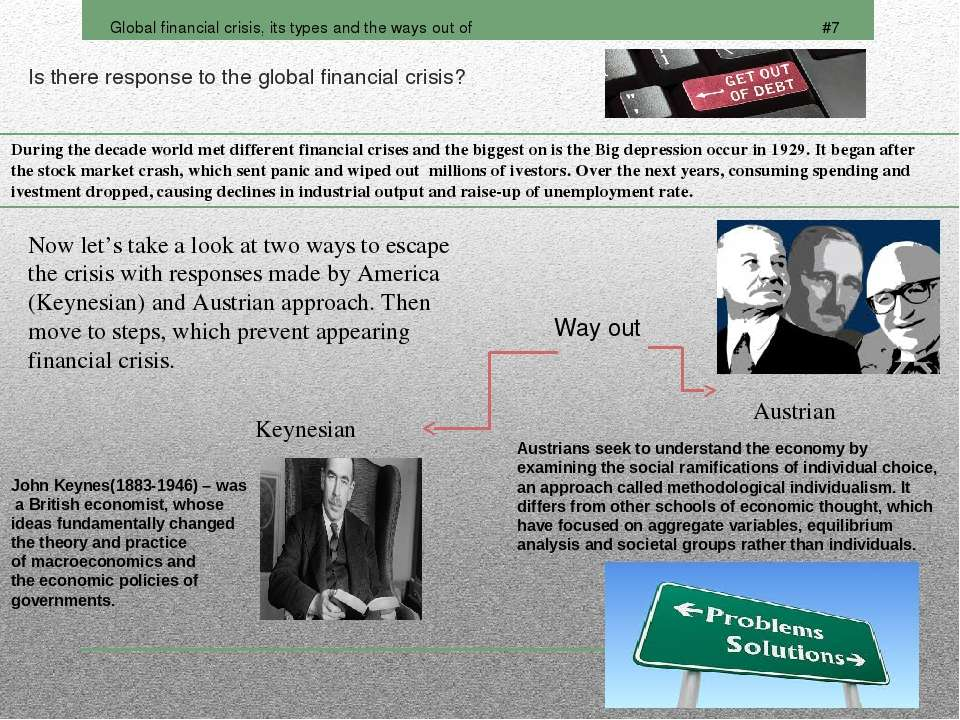 Is there response to the global financial crisis?
