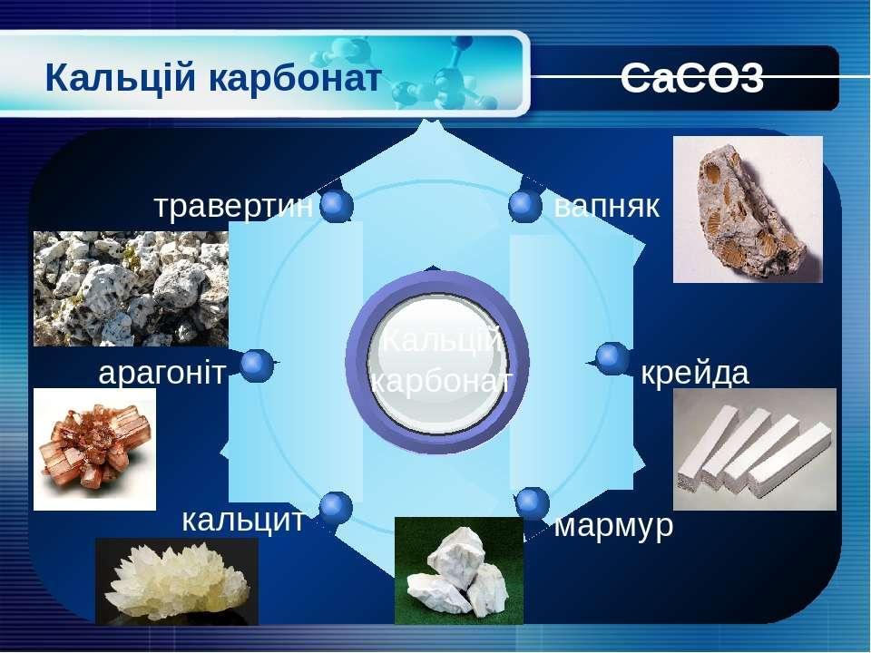 Кальцій карбонат Кальцій карбонат вапняк травертин крейда мармур арагоніт кал...