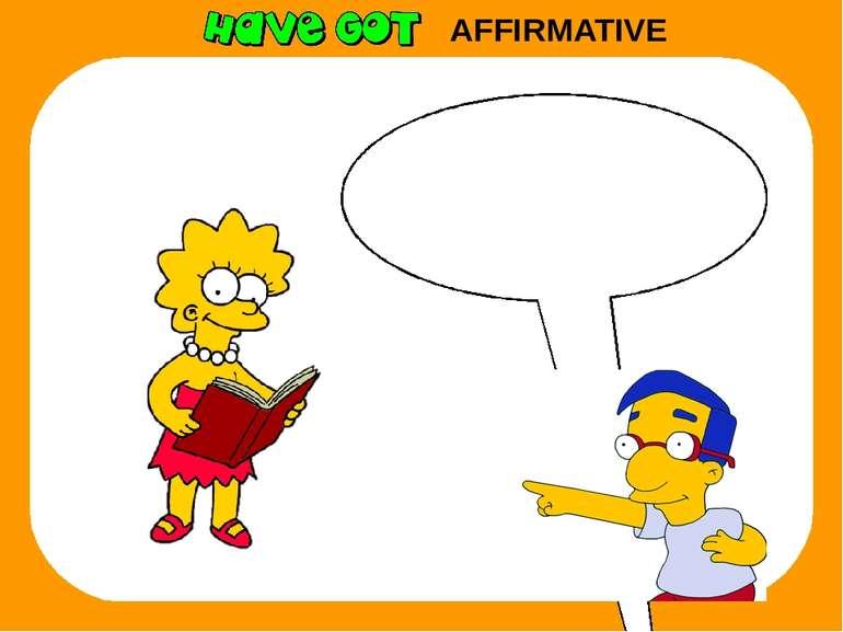 AFFIRMATIVE She has got a book.