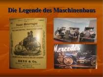 Die Legende des Maschinenbaus