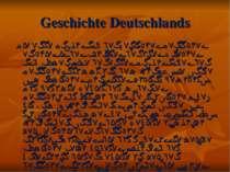 Geschichte Deutschlands Die erste Erwähnung der keltischen Deutschen erschien...