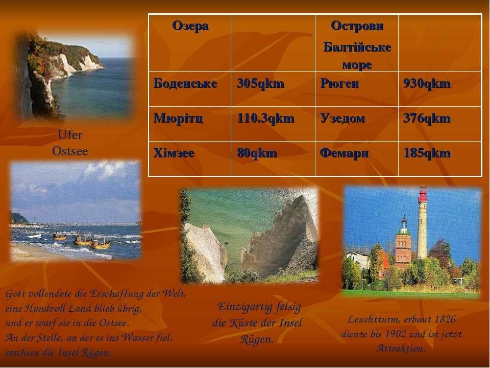 Ufer Ostsee Gott vollendete die Erschaffung der Welt, eine Handvoll Land blie...
