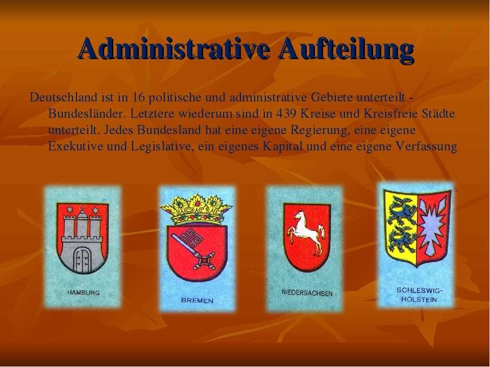 Administrative Aufteilung Deutschland ist in 16 politische und administrative...