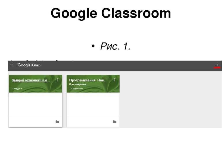Google Classroom Рис. 1.