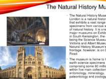 The Natural History Museum The Natural History Museum in London is a natural ...