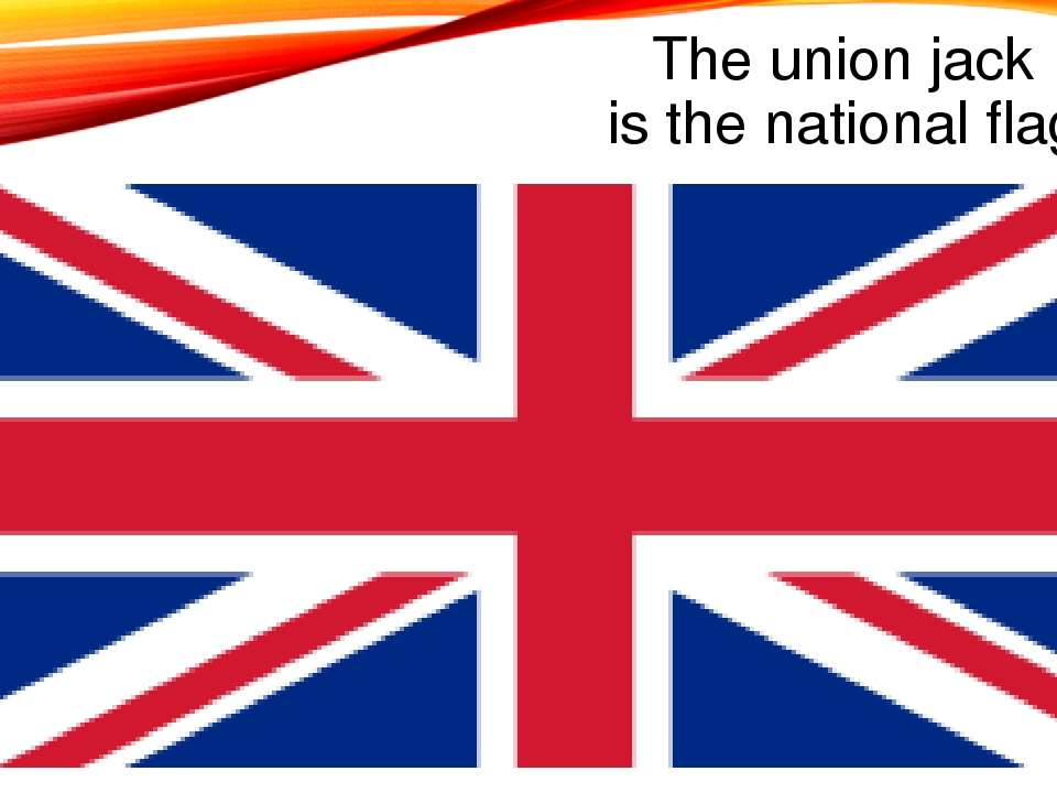 The union jack is the national flag