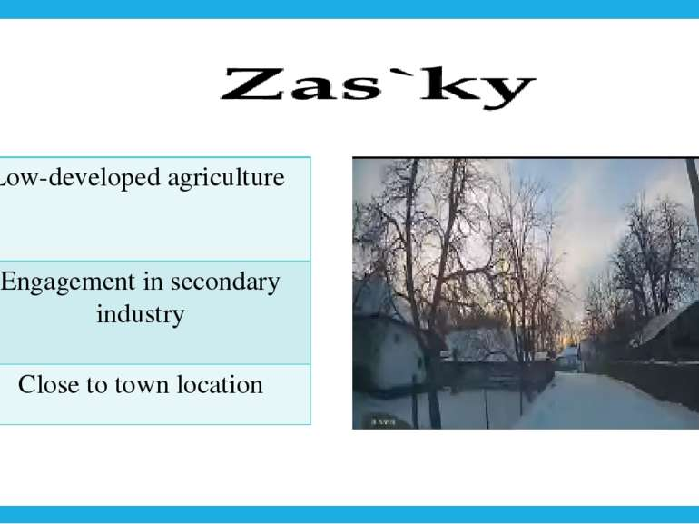 Low-developed agriculture Engagement in secondary industry Close to town loca...