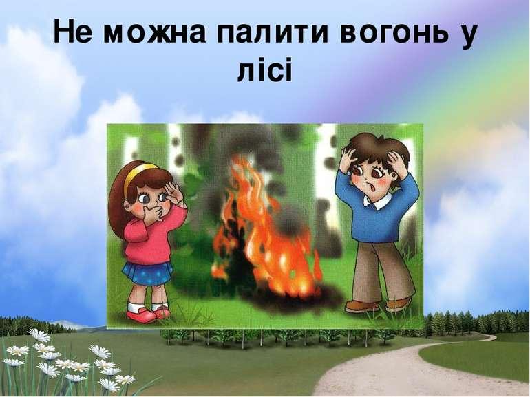 Не можна палити вогонь у лісі