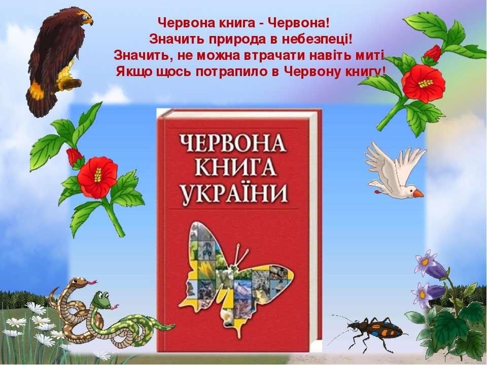 Червона книга - Червона! Значить природа в небезпеці! Значить, не мож...
