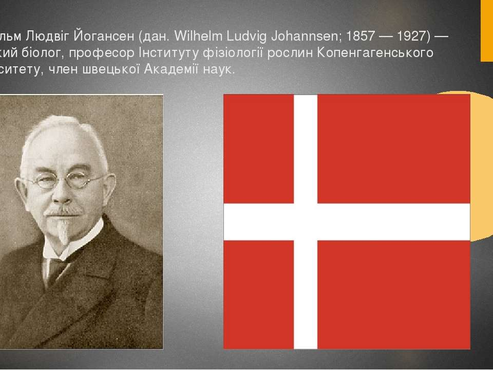 Вільгельм Людвіг Йогансен (дан. Wilhelm Ludvig Johannsen; 1857 — 1927) — данс...