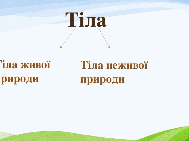 Тіла Тіла неживої природи Тіла живої природи