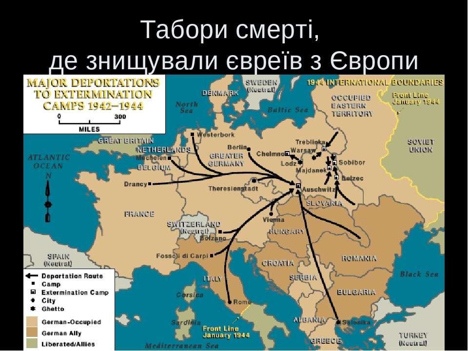 Табори смерті, де знищували євреїв з Європи
