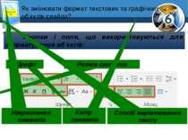 Як змінювати формат текстових та графічних об'єктів слайда? Розділ 2 § 10 Кно...