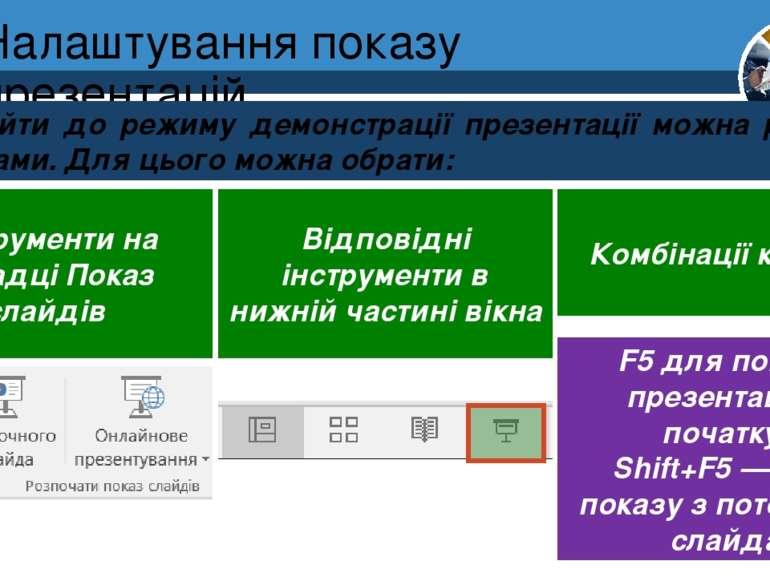 Налаштування показу презентацій Розділ 2 § 12 Перейти до режиму демонстрації ...