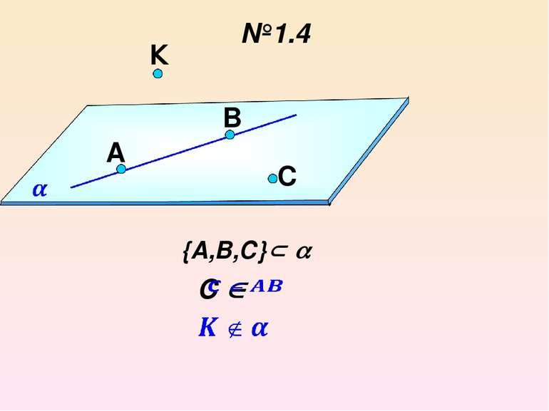 №1.4 a {А,В,С} B C A К