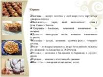 Страви Баклава— десерт, випічка, у якій шари тіста чергуються із шарамигорі...