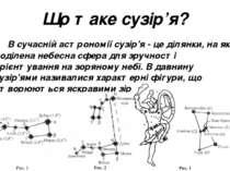 Що таке сузір'я? В сучасній астрономії сузір'я - це ділянки, на які поділена ...