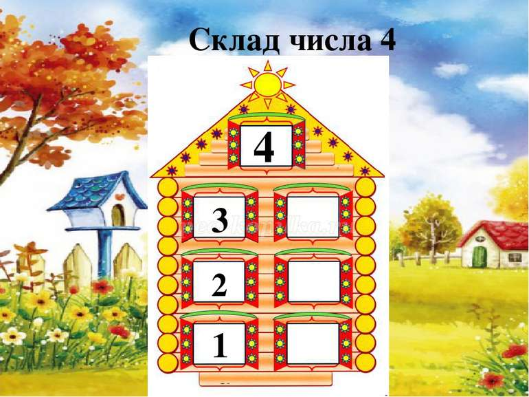 4 3 2 1 Склад числа 4