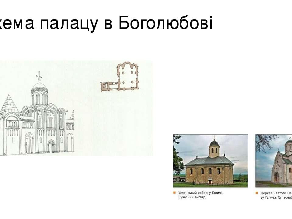 Схема палацу в Боголюбові