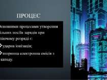 ПРОЦЕС Основними процесами утворення вільних носіїв зарядів при тліючому розр...