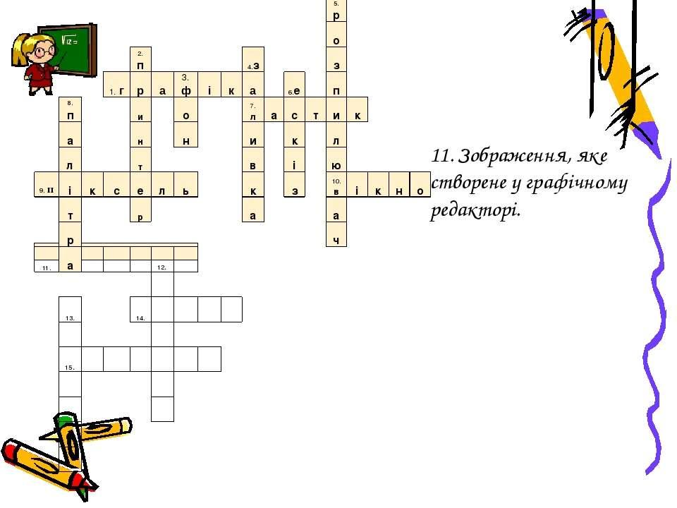 11. Зображення, яке створене у графічному редакторі. 5.р о 2.п 4.з з 1.г р а ...