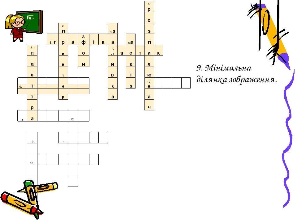 9. Мінімальна ділянка зображення. 5.р о 2.п 4.з з 1.г р а 3.ф і к а 6.е п 8.п...