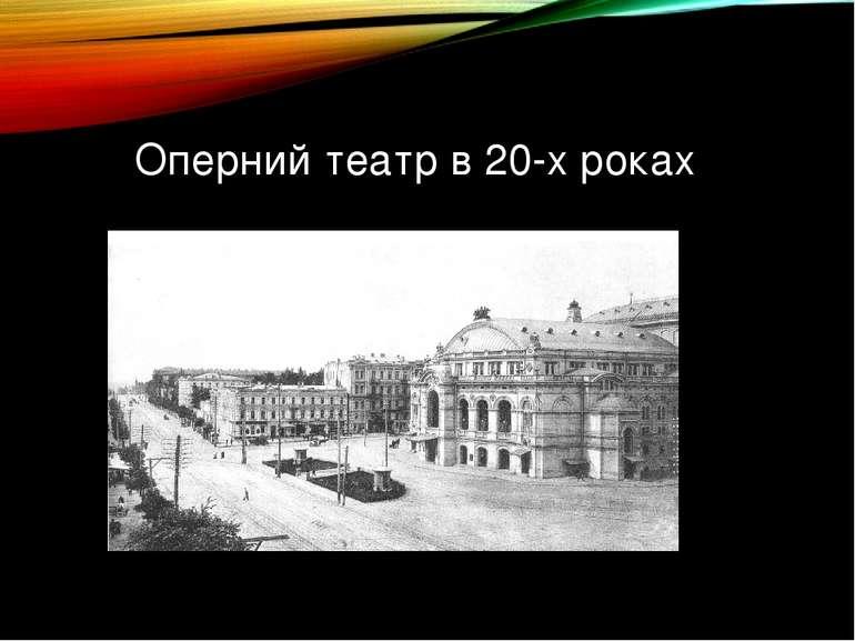 Оперний театр в 20-х роках