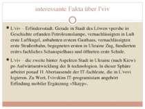 interessante Fakta über l'viv L'viv – Erfindersstadt. Gerade in Stadt des Löw...