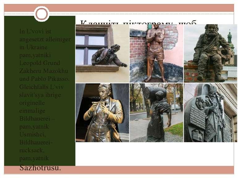 In L'vovi ist angesetzt alleiniger in Ukraine pam,yatniki Leopold Grund Zakhe...