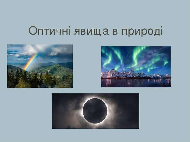 Оптичні явища в природі