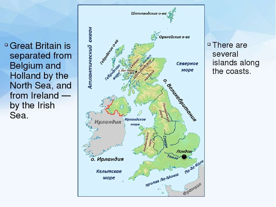 Great Britain is separated from Belgium and Holland by the North Sea, and fro...
