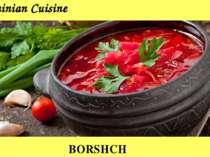 Ukrainian Cuisine BORSHCH