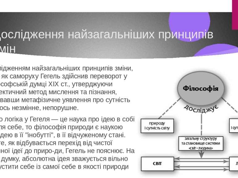 Дослідження найзагальніших принципів змін Дослідженням найзагальніших принцип...