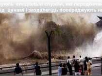 Існують спеціальні служби, які передбачають прихід цунамі і заздалегідь попер...