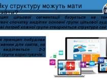 Яку структуру можуть мати сайти? Розділ 1 § 4 Принцип цільової сегментації ба...