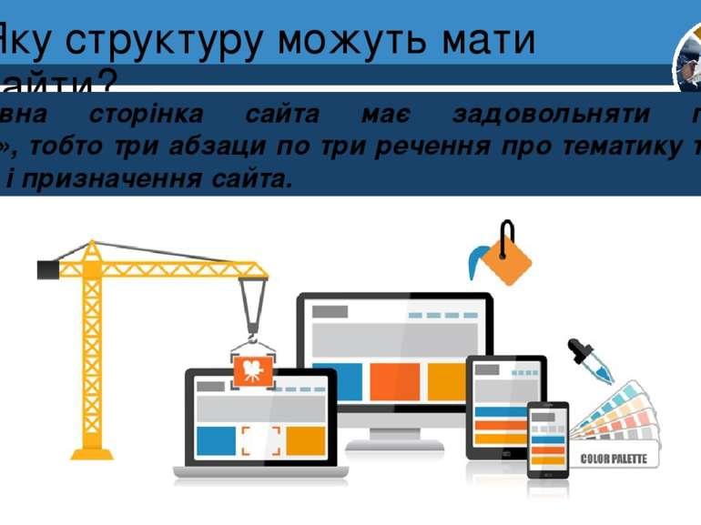 Яку структуру можуть мати сайти? Розділ 1 § 4 Головна сторінка сайта має задо...