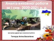 Підготувала: заступник директора з виховної роботи Телеуця Аліна Василівна Ан...