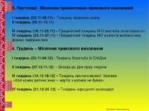 3. Листопад - Місячник превентивно-правового виховання І тиждень (02.11-06.11...
