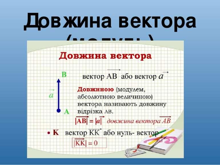 Довжина вектора (модуль)