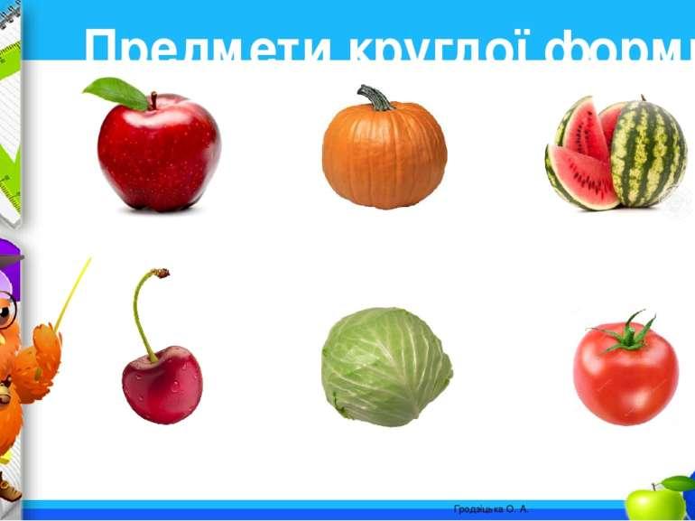 Предмети круглої форми. Гродзіцька О. А. ProPowerPoint.Ru
